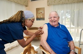 First resident receives COVID-19 Vaccine at Rockingham