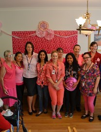 Agmaroy staff dig deep for breast cancer fundraiser