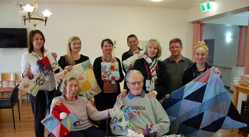 Sensory blankets donated to Agmaroy