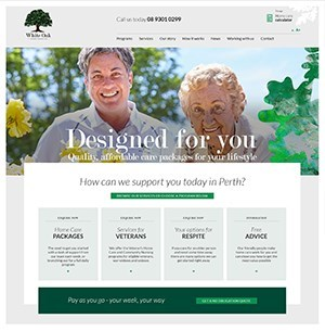 White Oak Home Care Services website launch