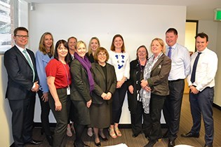 Hall & Prior corporate staff with Julie Collins