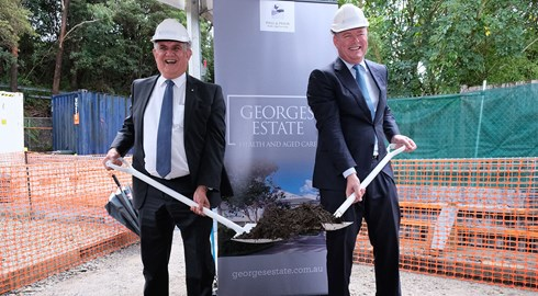 Minister Breaks Ground on George's Estate