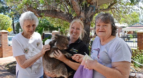 Leighton residents knit for a cuddly cause